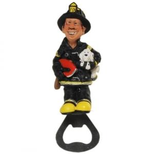Feuerwehrmann als  Flaschenöffner, Feuerwehr Öffner für Flaschen