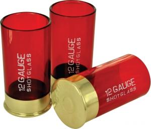 Schnapsgläser Pumpgun Patronen, 4x Pinnchen als Kaliber 12 Shot Glass Patronen, Partyspaß
