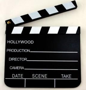 Regieklappe Filmklappe Holzklappe 18x20 cm
