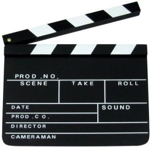 Regieklappe Filmklappe Holzklappe 27x30 cm