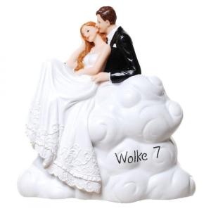 Spardose Brautpaar auf  Wolke 7 Hochzeit Sparbüchse Geschenk