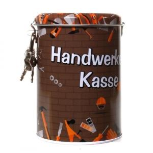Spardose Handwerker Kasse Sparschwein Metall Schloß