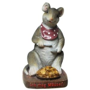 Spardose Ich mag Mäuse Geschenk Geburtstag Sparbüchse
