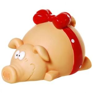 Sparschwein mit Schleife Spardose Schwein Sparbüchse Geldgeschenk