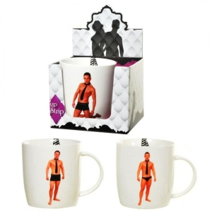 1x Striptease Tasse Mann Stripbecher Kaffeebecher Party Gag