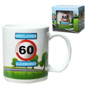 Tasse 60 Jahre Kaffebecher 60 Geburtstag Verkehrsschild