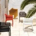 Net Stuhl aus fiberglasverstärktem Polyproylen