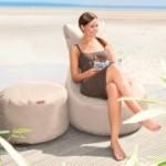 4-Jahreszeiten Outdoor Sitzsack Slope Plus (Farbe: beige)