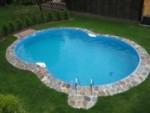 Achtformbecken Family von Future Pool, Innenhülle 0,8 mm in sand (Achtformbecken family, Innenhülle 0,8 mm, sand: 470 x 300 cm, Tiefe  120 cm, 13 m³)