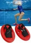 Aqua-Twin für effektives Bauch-Beine-Po Training im Wasser (Aqua-Twin: Grösse S = 36-41 (rot))