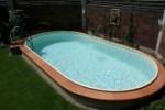Ovalschwimmbecken SWIM von Future Pool, Innenhülle 0,8mm in sand (Ovalschwimmbecken SWIM, Innenhülle 0,8 mm, sand: 450 x 300 cm, Tiefe  135 cm, 15 m³)