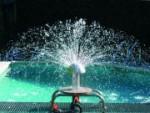 Sprühpilz aus Edelstahl, genießen Sie herabregnendes Wasser (Sprühpilz: blau (RAL5002) 250 mm)
