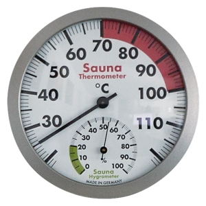 Sauna-Thermo-Hygrometer 120 mm