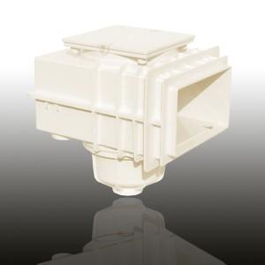 MTS V20 Skimmer, für Betonbecken ohne Flansch (Skimmer MTS V20 für Betonbecken: Cremeweiss)