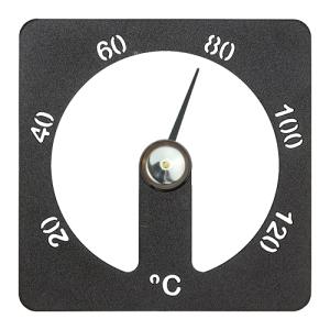 Sauna-Thermometer Cozmic aus Aluminium (Farbe: grau)