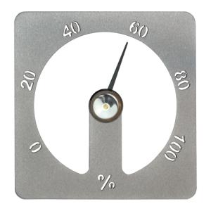Sauna-Hygrometer Cozmic aus Aluminium (Farbe: grau)