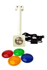 Einhänge-Unterwasserscheinwerfer mit quadratischer Blende (Einhängescheinwerfer: Einhängeunterwasserscheinwerfer)