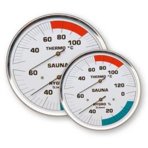 Sauna-Messgeräte im Edelstahlgehäuse (Messgeräte im Edelstahlgehäuse: Thermometer ø 130 mm)