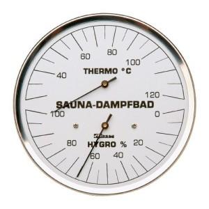Dampfbad-Klimamesser in zwei Ausführungen (Dampfbad-Klimamesser: Normale Ausführung)
