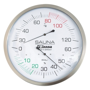 Sauna-Messgeräte XXL von Finnsa (Sauna-Messgeräte 30 cm: Sauna-Thermometer)