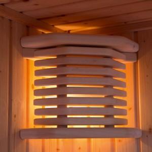 Exklusiv-Massivholz-Sauna-Eckleuchte Inari (Saunaleuchte Inari: nur Blendschirm)