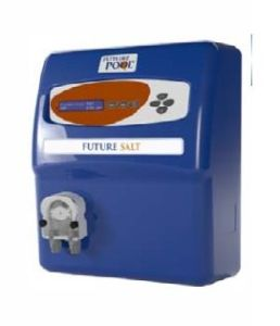 Salzwasserelektrolyseanlage mit pH-Regulierung und Redoxüberwachung (Salzwasserelektrolyseanlage: Future Salt 60)