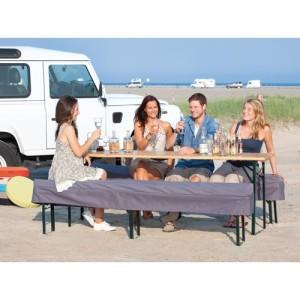 4-Jahreszeiten Outdoor Bierbank-Auflage bench plus (Farbe: antharzit)