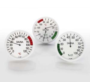 Klimamesser, Thermometer und Hygrometer aus Makralon (Messgeräte aus Makrolon: Thermometer)