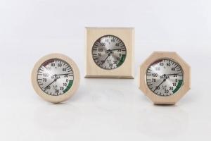 Klimamesser mit Holzrahmen (Klimamesser im Holzrahmen 170 mm: Klimamesser 8-eckig)