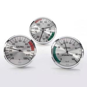 Klimamesser, Thermometer und Hygrometer aus schwarzem Makrolon (Messgeräte im schwarzen Makrolongehäuse: Thermometer)