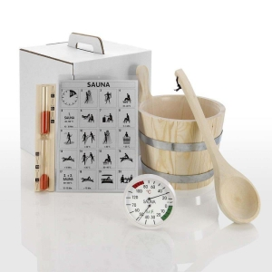 Zubehör-Set Standard, 5-teilig für die Sauna