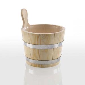 Aufgusseimer aus Nadelholz natur für Ihre Sauna (Aufgusseimer Nadelholz: mit Kunststoffeinsatz)