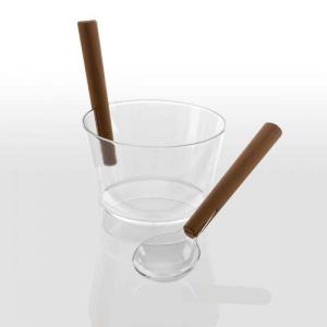 Aufgusseimer-Set aus klarsichtigem Polycarbonat für Ihre Sauna