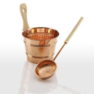 Aufgusseimer oder Kelle aus Kupfer (Aufgussserie Kupfer: Schöpfkelle Kupfer)