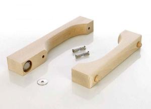 Türgriff aus Holz für Saunatüren (Türgriff aus Holz natur: für Innen- und Außenseite ohne Türmagnet)