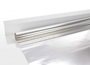Aluminiumfolie für den Saunabau (Aluminiumfolie: 25 m-Rolle)