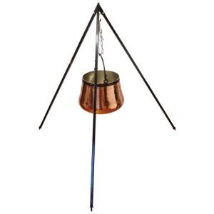 Kupferkessel mit Dreibeinständer (Farbe: Dreibeinständer)