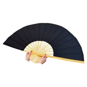 Sauna-Asia-Fächer Uni Schwarz (Sauna-Fächer schwarz: Größe L)