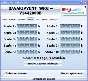 Betriebsstundenzähler für den Bayernlüfter Typ Comfort
