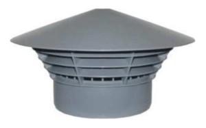 Lüftungspilz für 50 mm Rohre z.B. bei Lichtschacht-Montage