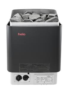 Saunaofen Cup STJ von Helo mit Steuergerät (Saunaofen Helo Cup: CUP45 STJ,  4,5 kW, Farbe graphite)