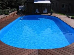 Ovalbecken Swim als ALL-IN-Schwimmbeckenset in der Höhe 150 cm (Ovalbecke Swim als ALL-IN-Einbaubeckenset, Höhe 150 cm: Maße 450 x 300 cm, Inhalt ca. 15 m³)