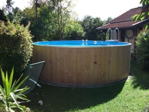 Rundbecken FUN WOOD von Future Pool, der  exlusive Schwimmspaß (Rundbecken FUN WOOD: 320 x 120 cm, 10 m³)