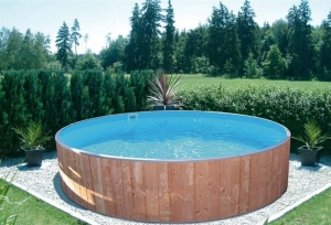 Kinderbecken FUN WOOD von Future Pool, der  exclusive Pool im Garten (Kinderbecken FUN WOOD: 350 x 90 cm, 8 m³)