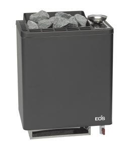 Saunaofen Bi-O Tec mit Verdampfer von EOS als Wandausführung (Saunaofen mit Verdamper Bi-O Tec: Leistung 6,0 kW Außenmantel Anthrazit (Kabinengröße 6 - 8 m³))