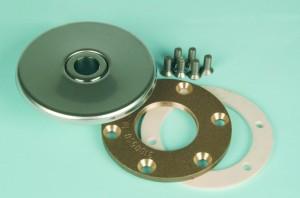 Einlaufdüsen-Flanschteil (passend zu Rotgusseinbauteil) (Varianten Düsenkugel: mit 4 x 8 mm Kugeldüse, entspricht DIN EN 16582)