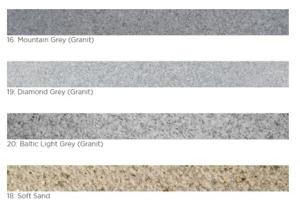 Beckenrandsteine Sydney -  Einzelsteine für den Pool (Beckenrandstein Napoli mit Nase 60 mm: Ecke 90° vorne und hinten gekantet  600 x 600 mm Farbe baltic light grey)