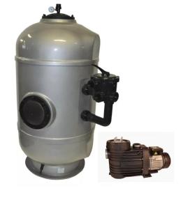 Filteranlage MS Exclusiv mit Speck-Pumpe ( Filteranlage SUPER PK mit Speck-Pumpe: MS 610 mit Bettar 14)