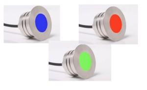 Edelstahlleuchten Floorlight von E4S (Floorlight: FL 30 - 15 RGB max 100 °C, 3 W)