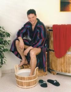 Sauna-Fußwanne /Fußwärmebecken geflammt, 14 l